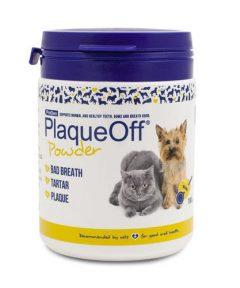 Polvos para la higiene dental PlaqueOff a base de algas