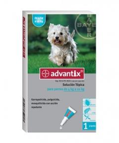 Advantix antiparasitario pipetas perros pequeños