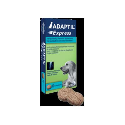 Adaptil express comprimidos relajantes para perros en caso de tormenta o fuegos artificiales