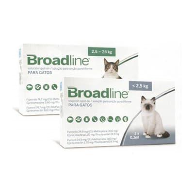 Broadline Gatos Antiparasitario interno externo para gatos
