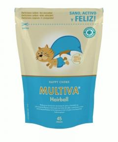 Prevención y eliminación de bolas de pelo en gatos Multiva Hairball