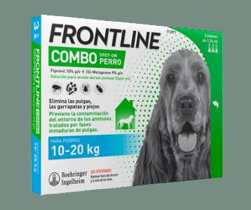 Antiparasitario Frontline Combo en pipetas larvicida pulgas