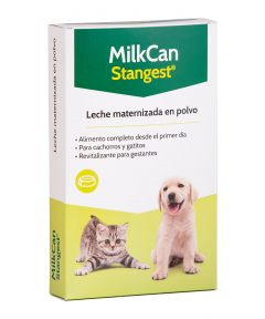 Leche en polvo maternizada para gatitos y perritos