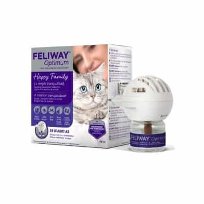 Feliway Optimum Difusor con feromona facial felina para control del estrés de los gatos